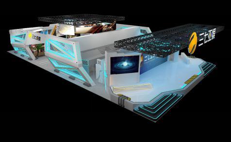 三七互娱CJ展台以时空飞船为造型